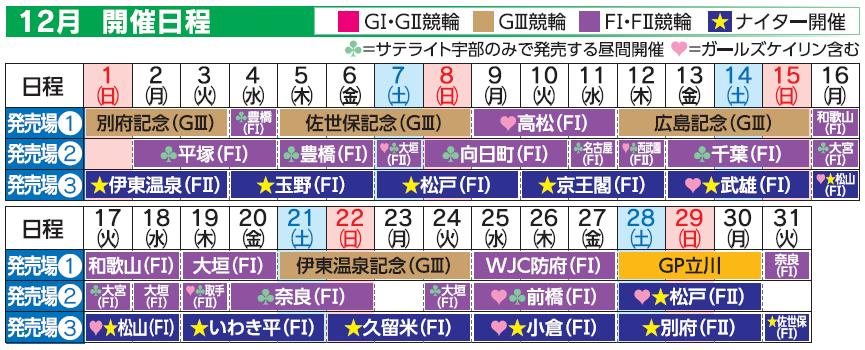 レーススケジュール2019年12月